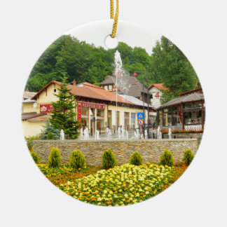 Sinaia, Rumania Adorno Navideño Redondo De Cerámica
