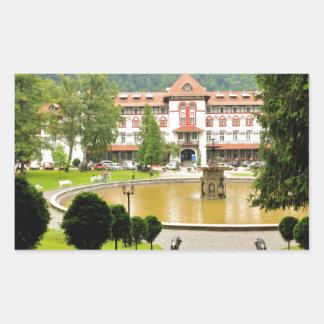 Sinaia, Rumania Pegatina Rectangular
