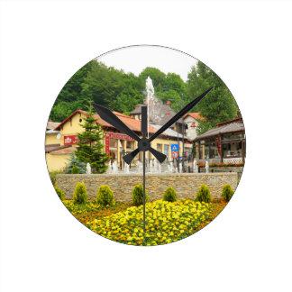 Sinaia, Rumania Reloj Redondo Mediano