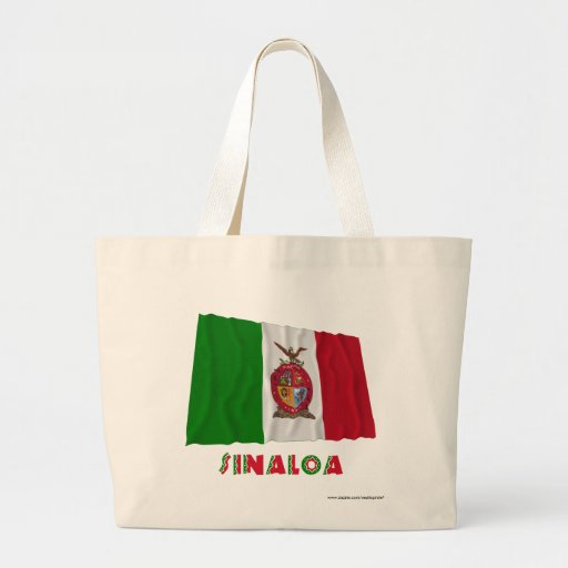 Sinaloa que agita la bandera oficiosa bolsa de mano