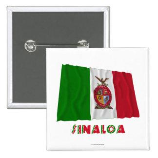 Sinaloa Waving Unofficial Flag Pins