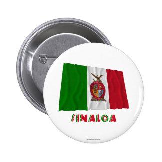 Sinaloa Waving Unofficial Flag Pinback Buttons