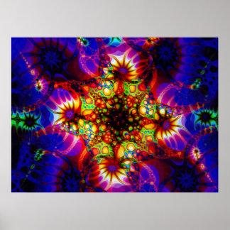 Sinapsis encendida de la mente olográfica póster