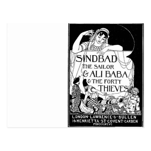 Sinbad la cubierta del marinero postales