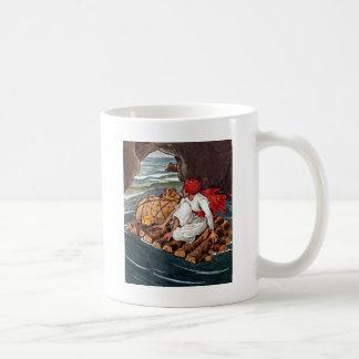 Sinbad the Sailor Shipwreck Treasure Illustration Coffee Mug