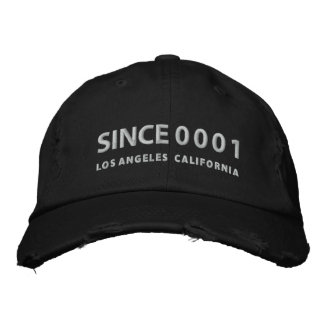 SINCE 0001 Cap Embroidered Hat