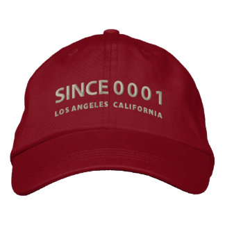 Since 0001 embroidered hat
