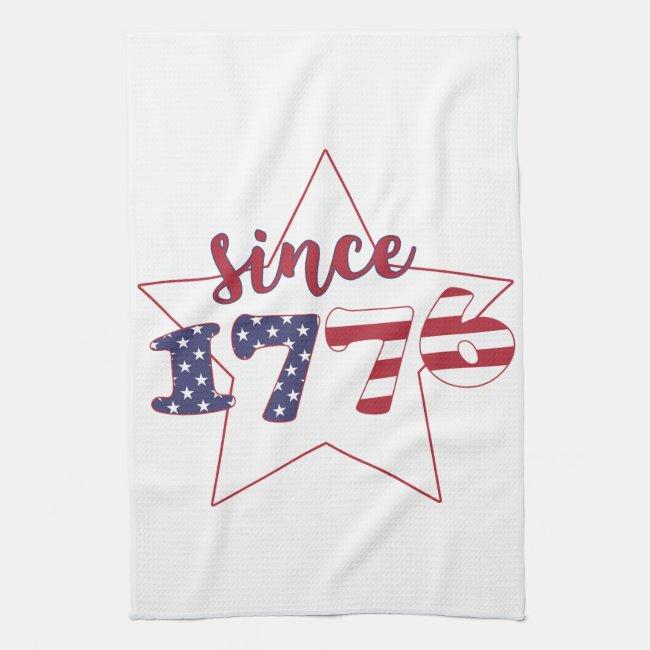 Since 1776 - American Flag Typography - Patriotic