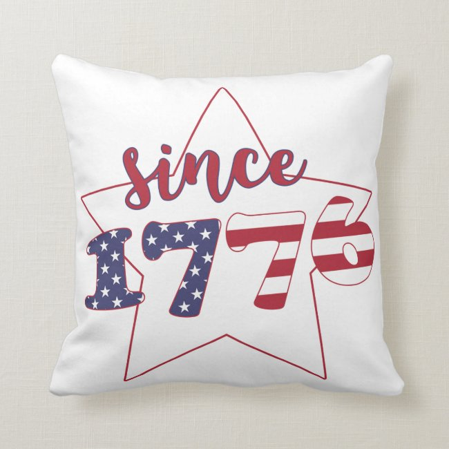 Since 1776 - American Flag Typography - Patriotic