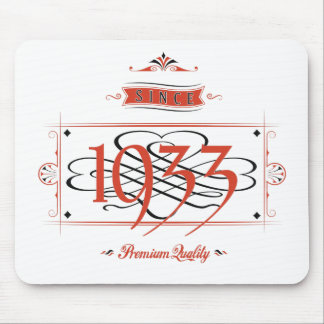 Since 1933 (Red&Black) Mouse Pad