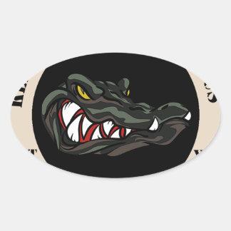 Since 1941 Tan with black camo gator Oval Sticker