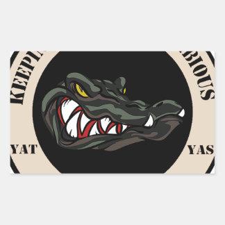 Since 1941 Tan with black camo gator Rectangular Sticker