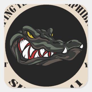 Since 1941 Tan with black camo gator Square Sticker