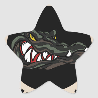 Since 1941 Tan with black camo gator Star Sticker