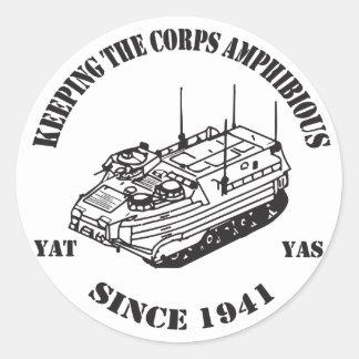 Since 1941 Track II logo Classic Round Sticker