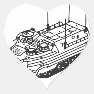 Since 1941 Track II logo Heart Sticker
