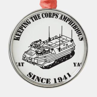 Since 1941 Track II logo Metal Ornament