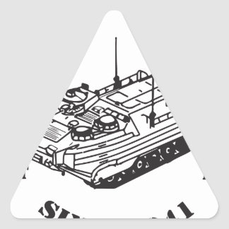 Since 1941 Track II logo Triangle Sticker