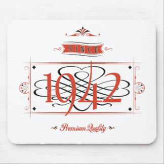 Since 1942 (Red&Black) Mouse Pad