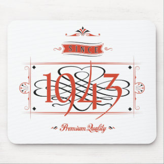 Since 1943 (Red&Black) Mouse Pad