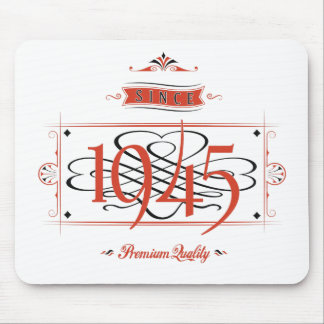 Since 1945 (Red&Black) Mouse Pad