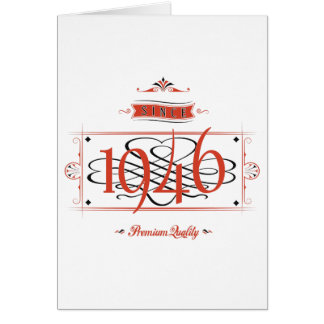 Since 1946 (Red&Black) Card