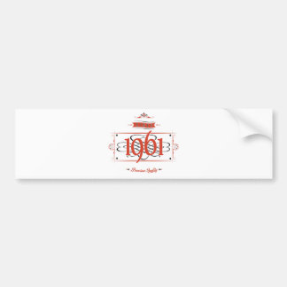 Since 1961 (Red&Black) Bumper Sticker
