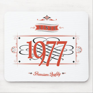 Since 1977 (Red&Black) Mouse Pad