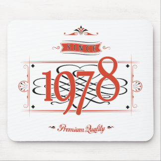 Since 1978 (Red&Black) Mouse Pad