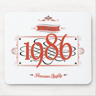 Since 1986 (Red&Black) Mouse Pad