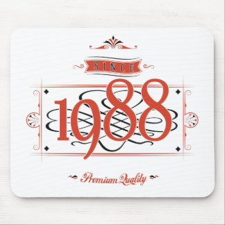 Since 1988 (Red&Black) Mouse Pad