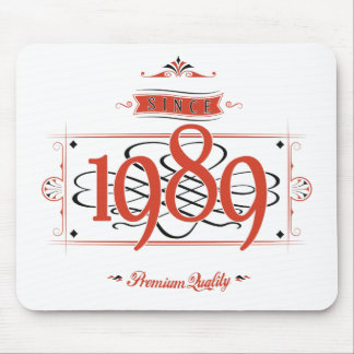 Since 1989 (Red&Black) Mouse Pad