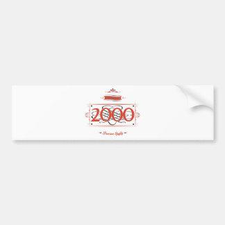 Since 2000 (Red&Black) Bumper Sticker