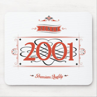 Since 2001 (Red&Black) Mouse Pad