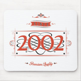 Since 2002 (Red&Black) Mouse Pad