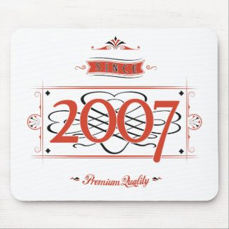 Since 2007 (Red&Black) Mouse Pad