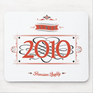 Since 2010 (Red&Black) Mouse Pad