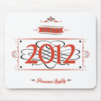 Since 2012 (Red&Black) Mouse Pad