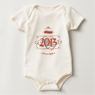 Since 2013 (Red&Black) Baby Bodysuit