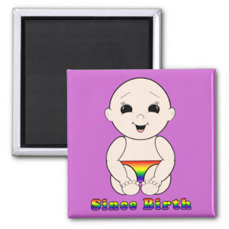 Since Birth 3r 2 Inch Square Magnet