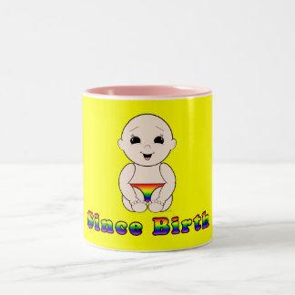 Since Birth 3r Two-Tone Coffee Mug
