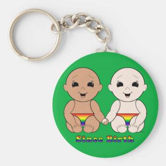 Since Birth 8r Basic Round Button Keychain