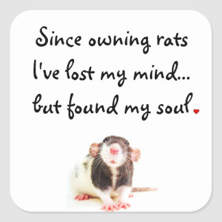 Since Owning Rats... Square Sticker