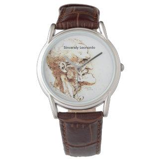 Sinceramente reloj del diseño de Leonardo