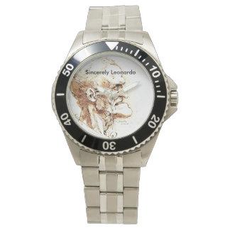 Sinceramente reloj del diseño de Leonardo para los