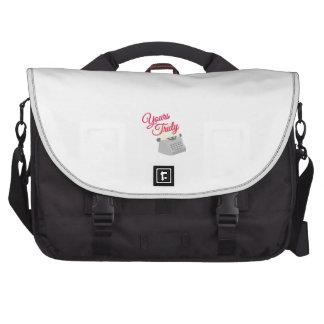 Sinceramente suyo bolsas para portátil