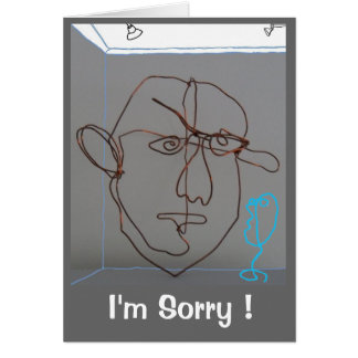Sincere apology in wire sculptured image card