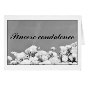 Sincere condolence card