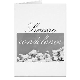 Sincere condolence greeting card