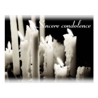 Sincere condolence postcard